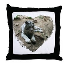 tiger in heart Throw Pillow