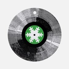 Holiday Snowflake Record Ornament (Round)