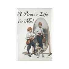 A Pirate's Life for Me Rectangle Magnet