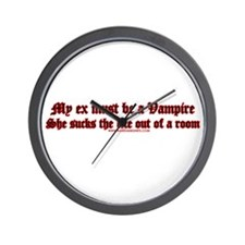 My Ex Must Be A Vampire She Wall Clock