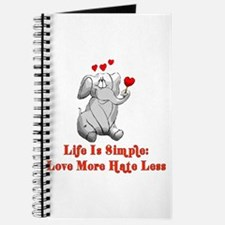 Love More Hate Less Journal