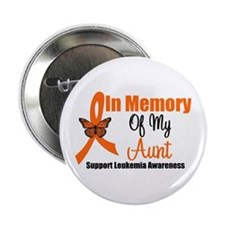 "Leukemia In Memory Aunt 2.25"" Button"