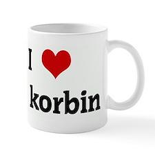I Love korbin Mug