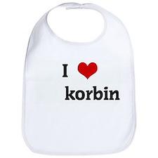 I Love korbin Bib