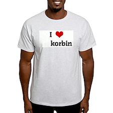 I Love korbin T-Shirt
