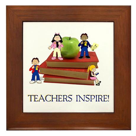 Teachers Inspire Framed Tile