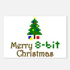 8-bit Christmas Postcards (Package of 8)