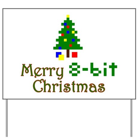 8-bit Christmas Yard Sign
