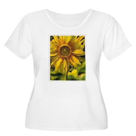 Sunflower Women's Plus Size Scoop Neck T-Shirt