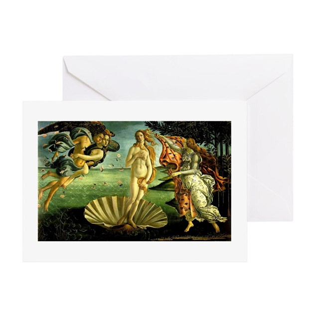 Venus on the Half Shell Greeting Card by cragmontdesigns