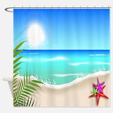 Starfish Beach Shower Curtain