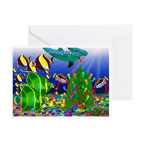 Dolphin Tree Greeting Cards (Pk of 20)