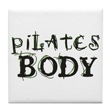pilates body Tile Coaster