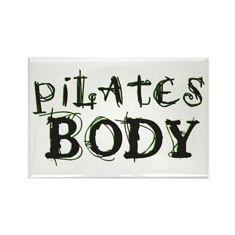 pilates body Rectangle Magnet (10 pack)