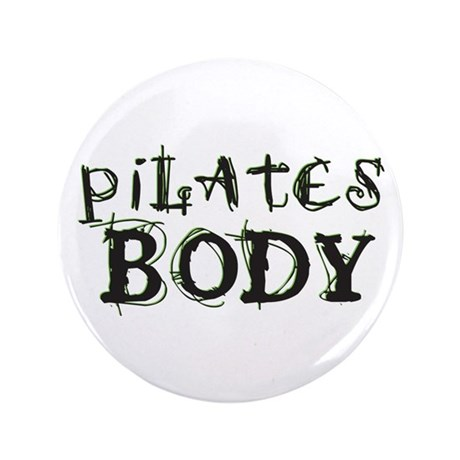 "pilates body 3.5"" Button (100 pack)"