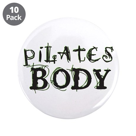 """pilates body 3.5"""" Button (10 pack)"""