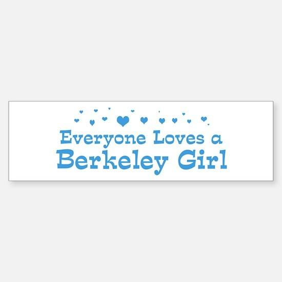 Loves Berkeley Girl Bumper Bumper Bumper Sticker