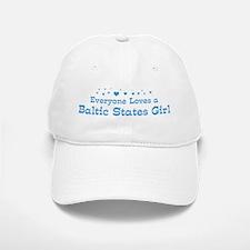 Loves Baltic States Girl Baseball Baseball Cap