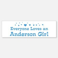 Loves Anderson Girl Bumper Bumper Bumper Sticker