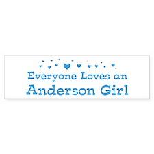 Loves Anderson Girl Bumper Bumper Sticker