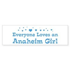 Loves Anaheim Girl Bumper Bumper Sticker
