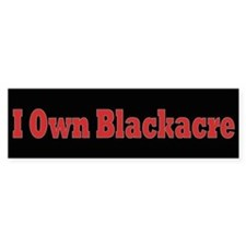 I Own Blackacre Bumper Bumper Sticker