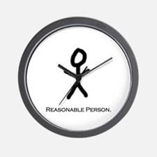 Reasonable Person Wall Clock