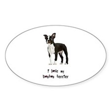 I Love My Boston Terrier Decal