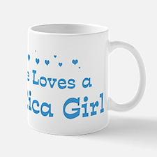 Loves Costa Rica Girl Mug