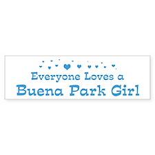 Loves Buena Park Girl Bumper Bumper Sticker