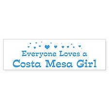 Loves Costa Mesa Girl Bumper Bumper Sticker