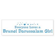 Loves Brunei Darussalam Girl Bumper Bumper Sticker