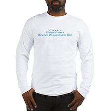 Loves Brunei Darussalam Girl Long Sleeve T-Shirt