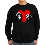 Panda Bear Love Sweatshirt (dark)