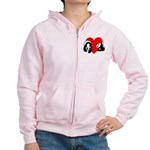 Panda Bear Love Women's Zip Hoodie