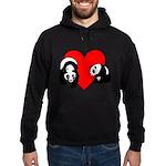 Panda Bear Love Hoodie (dark)