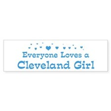 Loves Cleveland Girl Bumper Bumper Sticker