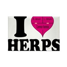 I Heart Herps Rectangle Magnet