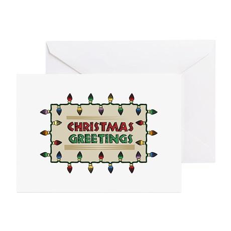 Christmas Greetings Greeting Cards (Pk of 10)
