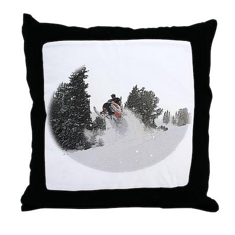 Flying Through Snow Throw Pillow