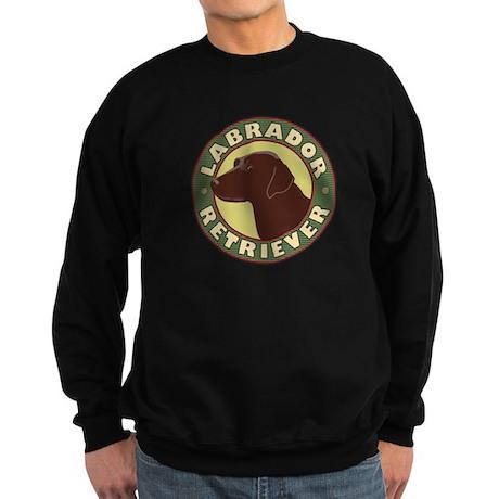 Chocolate Lab Crest - Sweatshirt (dark)
