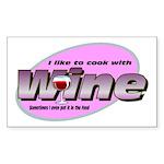 I Love Wine Rectangle Sticker 50 pk)