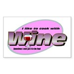 I Love Wine Rectangle Sticker 10 pk)