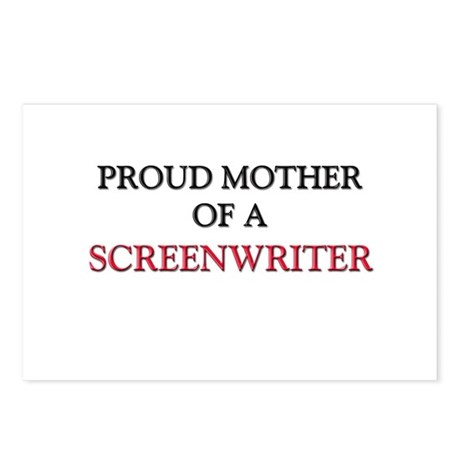 Proud Mother Of A SCREENWRITER Postcards (Package