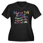I Got My Tan - Abuelita Women's Plus Size V-Neck D