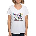 I Got My Tan - Abuelita Women's V-Neck T-Shirt