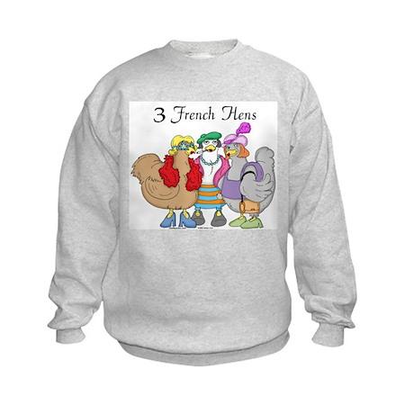 3 French Hens Kids Sweatshirt