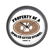 Property of an Affen Spaniel Wall Clock