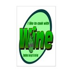 I Love Wine Mini Poster Print