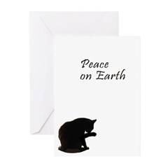 Christmas and cats Greeting Cards (Pk of 10
